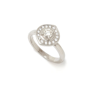 White Diamond Ring - Marquise Halo Collection