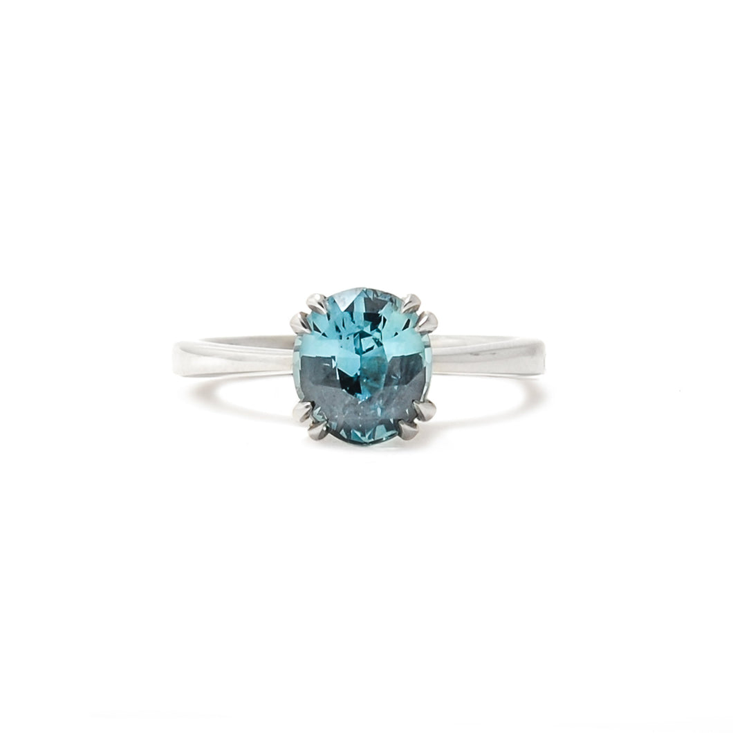 Teal Sorbet Sapphire Ring - Audrey Collection
