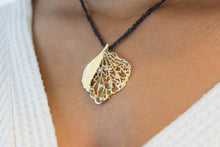Load image into Gallery viewer, Large Pierced Hydrangea Pendant