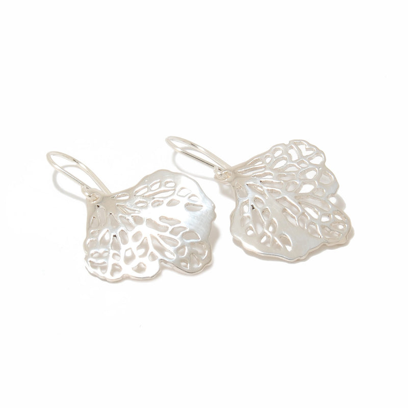 Hydrangea silhouette earrings