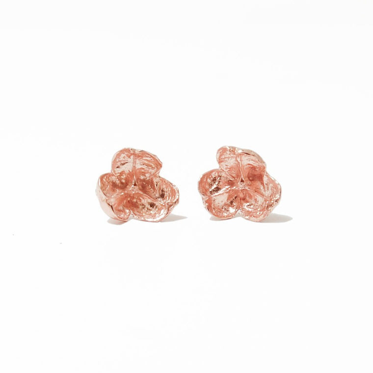 14K Rose Gold Allium Studs