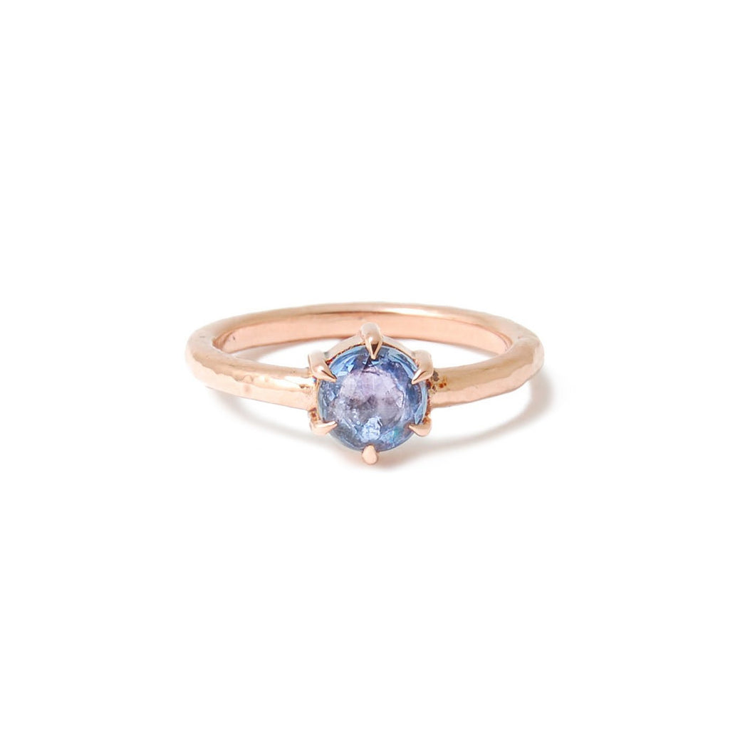 Six prong Sapphire Ring