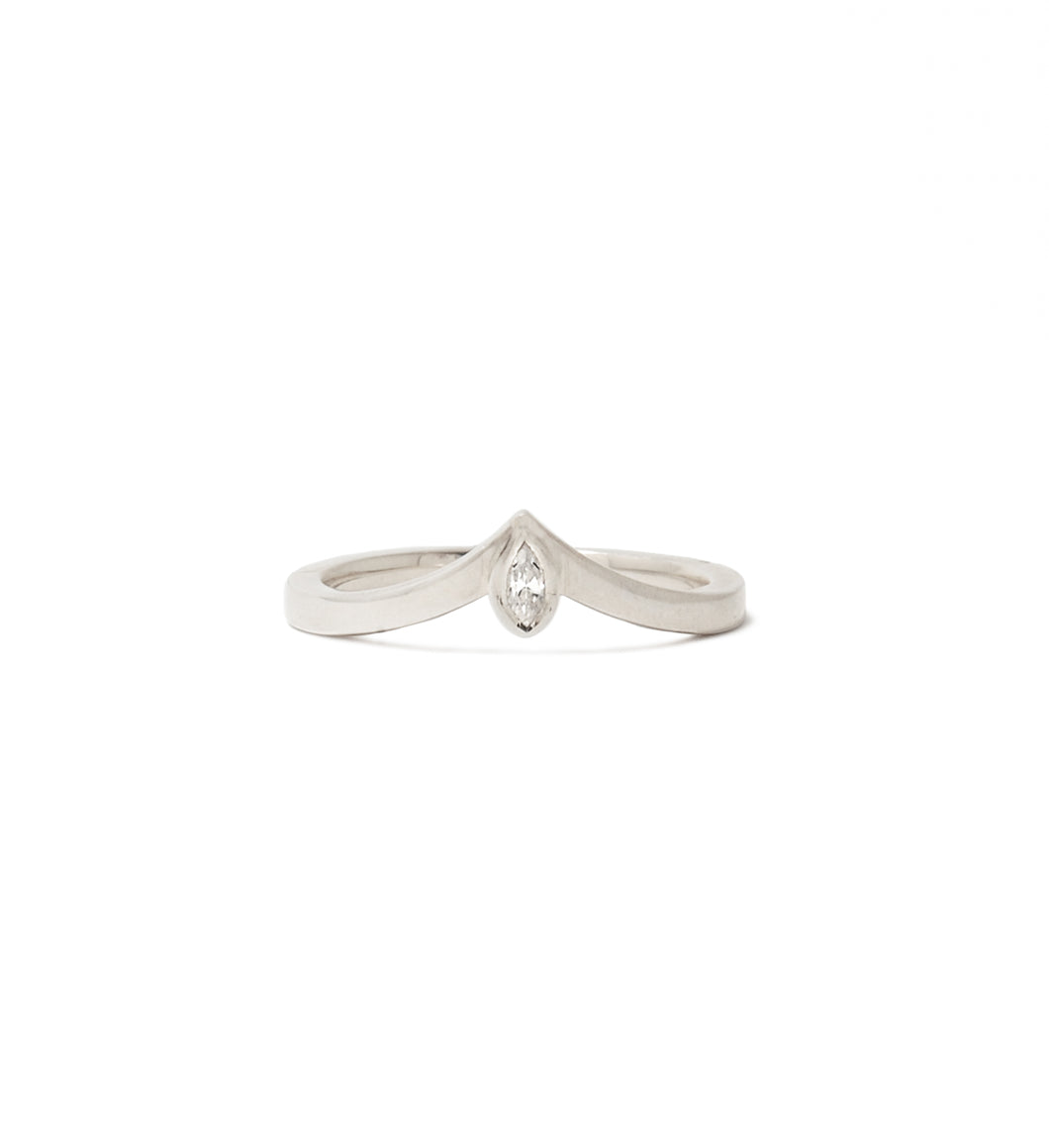 Lovers Leap Marquise Diamond Ring