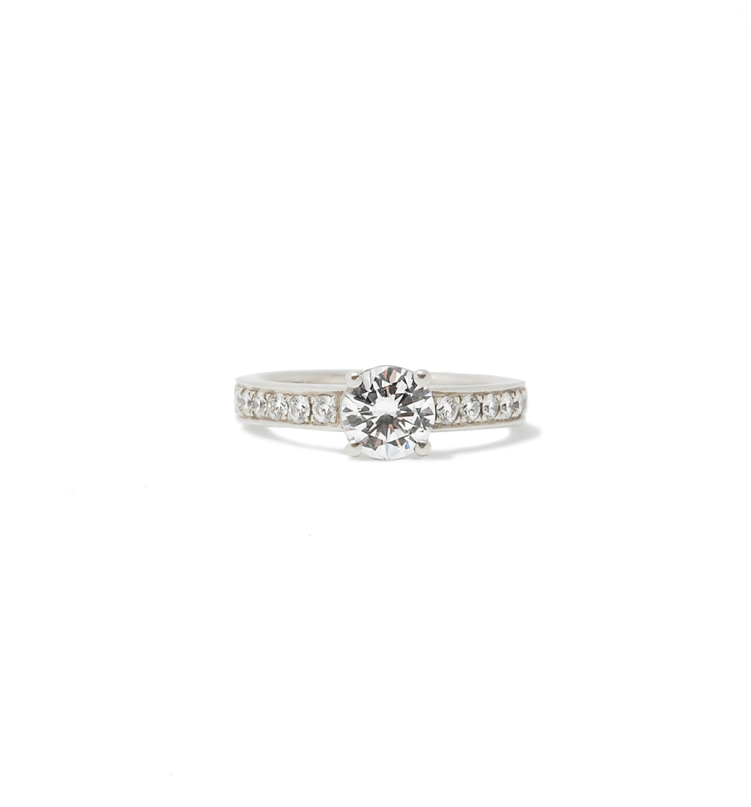 Four Prong Diamond Engagement Ring