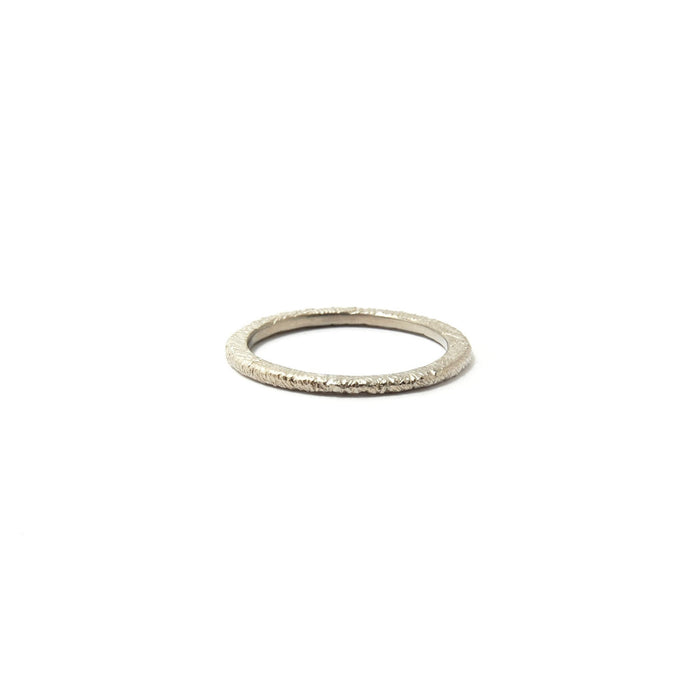 Narrow Feathered Stackable Ring
