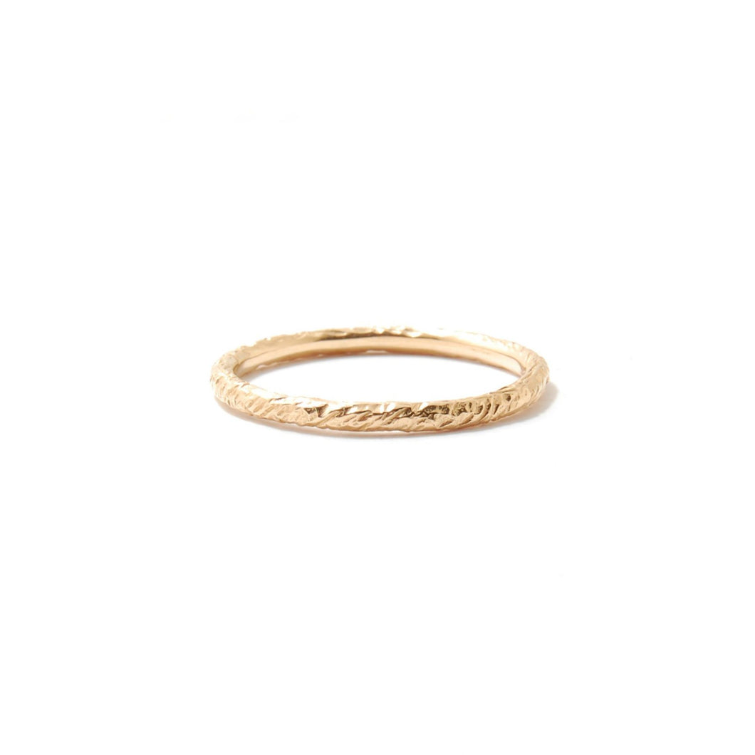 Feathered Stackable Ring Round Profile