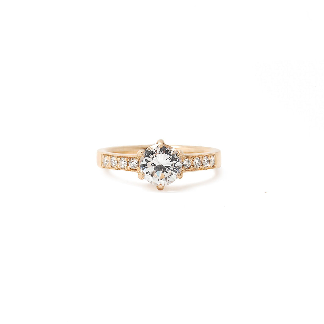 6 prong Diamond Ring