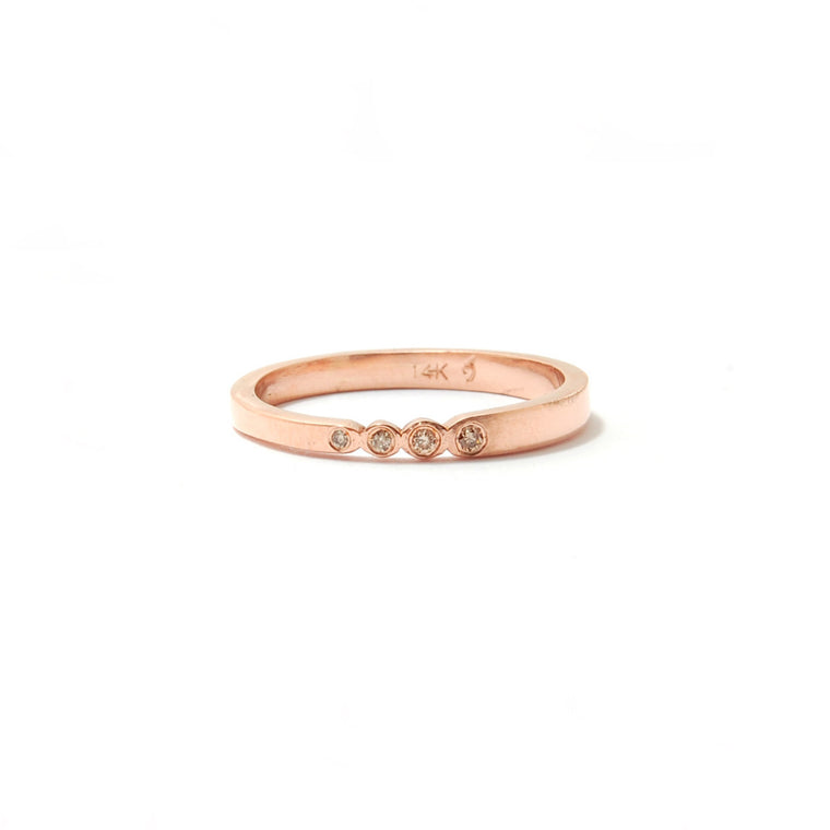 Stackable Ring with Diamonds