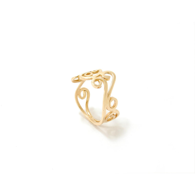 Yellow Gold Swirl Ring