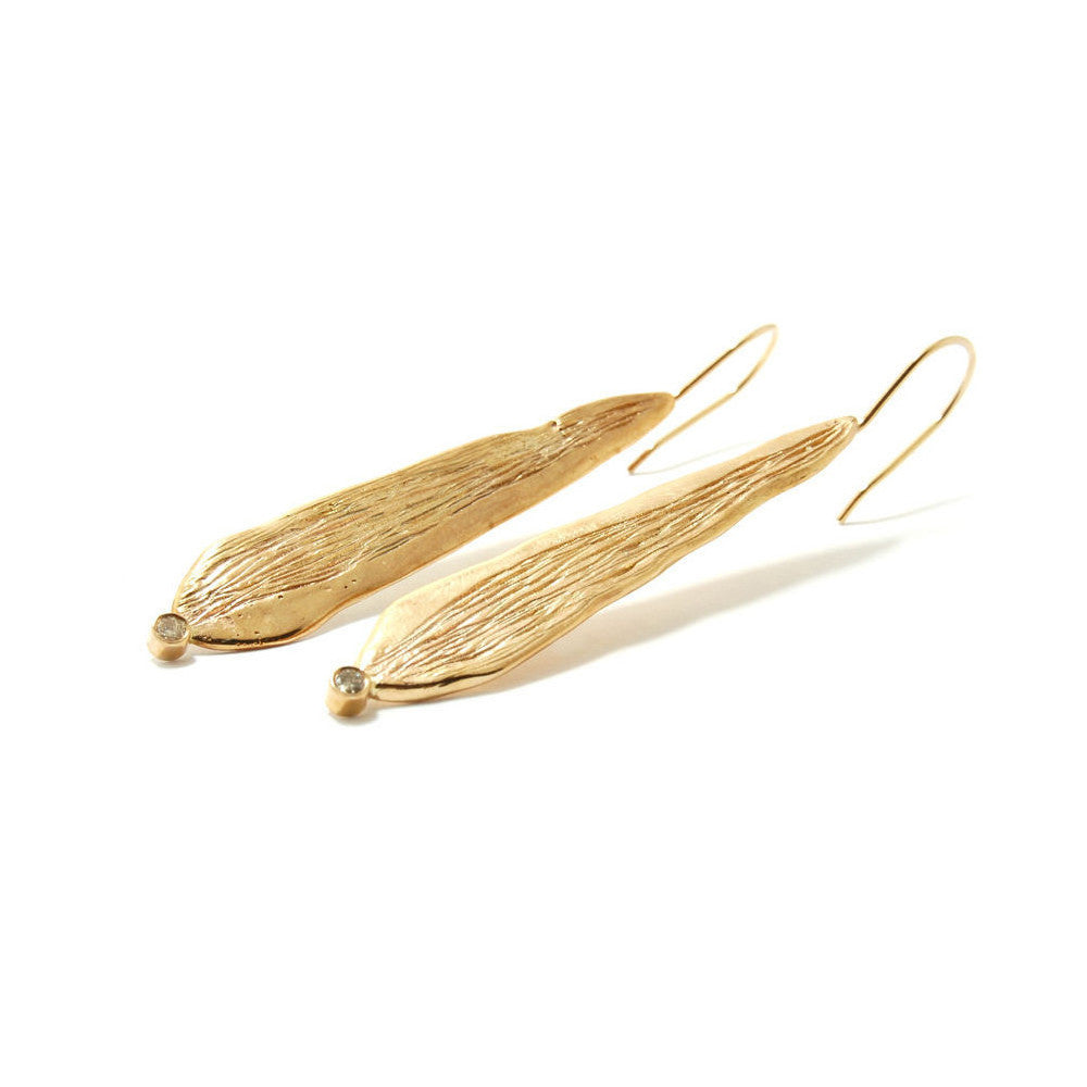 Repurposed Yellow Gold Dew Drop Earrings