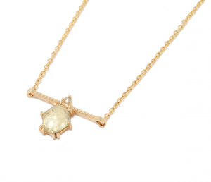Rose cut Sapphire Bar Necklace - Confection Collection