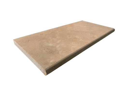 Noce Toros Bullnose Travertine Tumbled 3CM