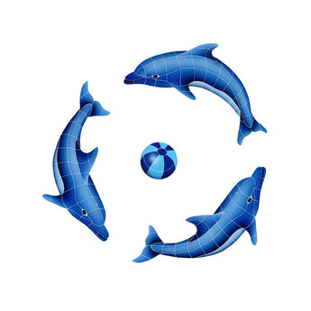 Dolphin Group (1 Left, 2 Right, 1 Blue Ball)