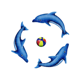 Dolphin Group (1 Left, 2 Right, 1 Multi-Color Ball)