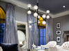 Chandelier in Black Polished Nickel-Chandelier-yZiGN Interior Design
