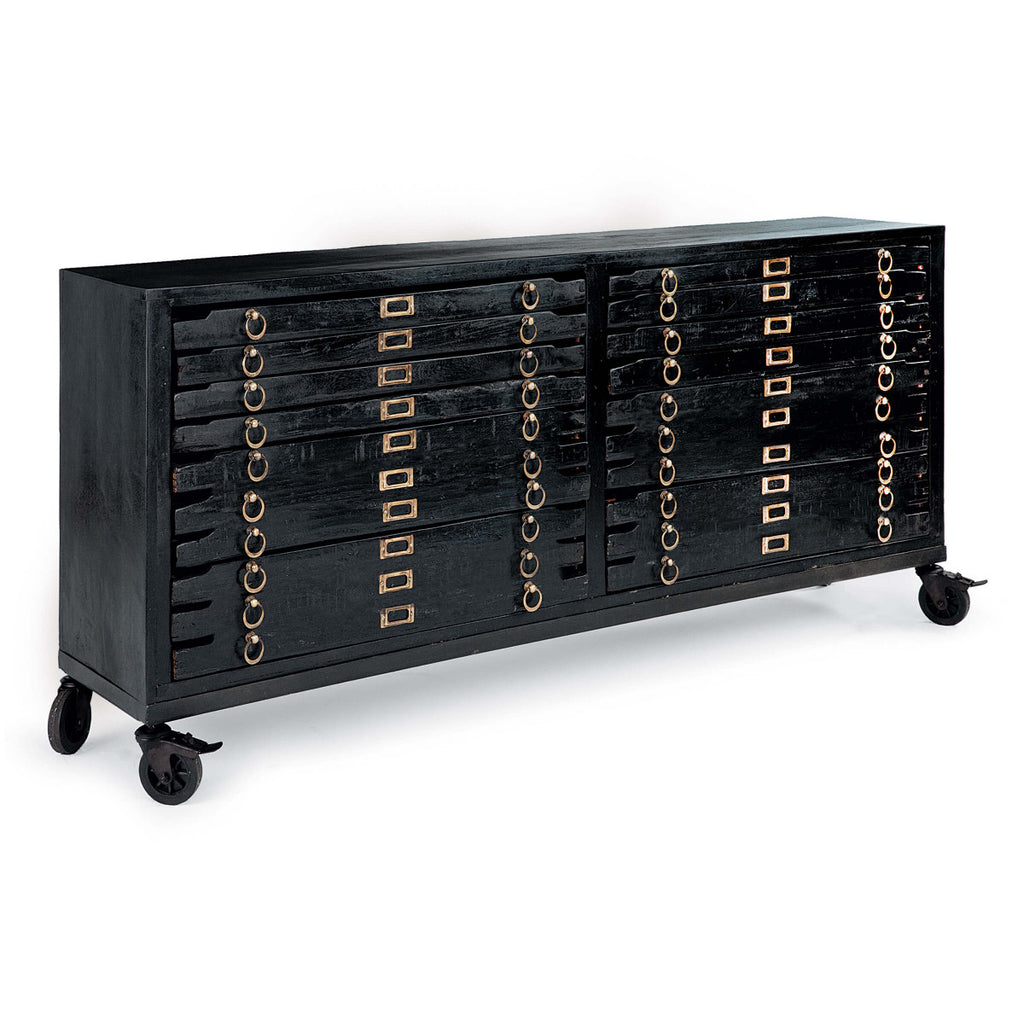 Black Console with 12 Drawers