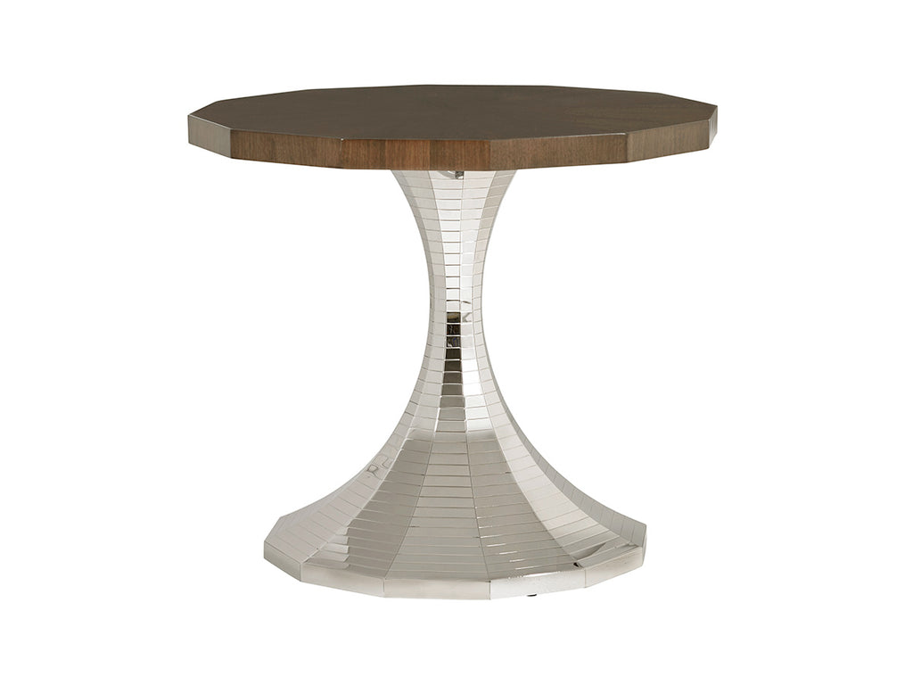 Walnut and Stainless Steel Center Table
