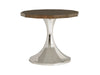 Walnut and Stainless Steel Center Table-Table-yZiGN Interior Design