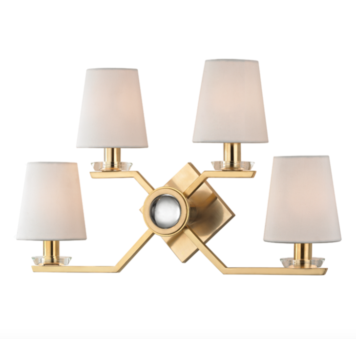 Gold X Shape Wall Sconce-Sconce-yZiGN Interior Design