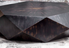 Coffee Table In Black Finish And Brown Undertones-Coffee Table-yZiGN Interior Design