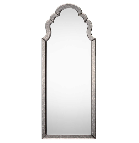 Antiqued Beveled Mirror
