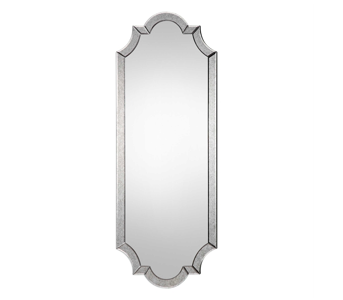 Frameless Beveled Antique Mirror