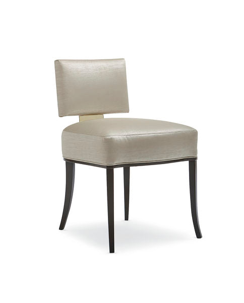Gold Metal Back Dining Chair