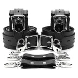 "Berlin 2"" Lockable BDSM Bondage Submissive Cuff Set"