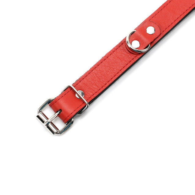 Kathleen Luxury Leather Submissive Collar 1-Inch