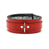 Berlin Leather Faux Fur-Lined Bondage Collar + Lead 2-Inch
