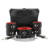Mandrake 7-piece lambskin leather padded bondage set red