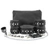 Mandrake 7-piece lambskin leather padded bondage set grey lockable