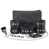 Mandrake 7-piece lambskin leather padded bondage set purple lockable