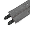 Luxury lambskin leather padded BDSM cuffs grey inside liner