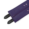 Luxury lambskin leather padded BDSM cuffs purple inside liner