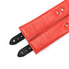 Luxury lambskin leather padded BDSM cuffs inside liner red