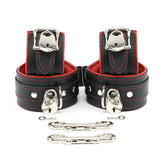 "Mandrake Locking Lamb Lined 2"" BDSM Bondage Submissive Cuff Set"