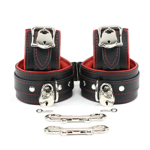 "Mandrake Locking Lamb Lined 2"" BDSM Bondage Submissive Cuff Set BDSM"