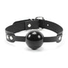 Luxury leather black and black ball gag