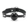 Luxury leather black and grey ball gag