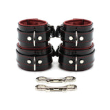 "Roma Vegan 2"" Padded Lockable Cuff Set"