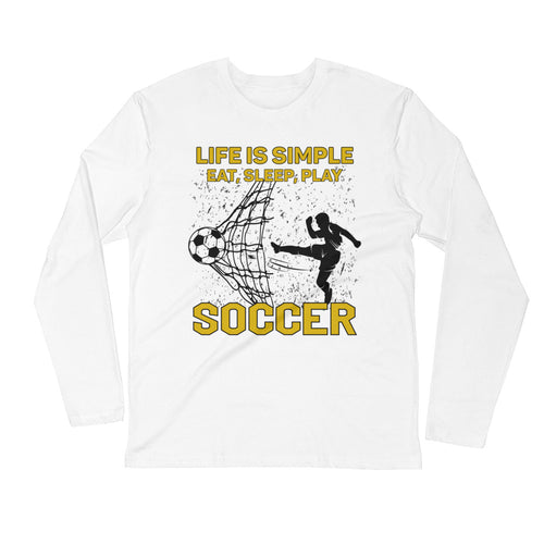 Eat Sleep Play Soccer Long Sleeve T-Shirt