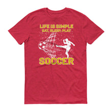 Eat Sleep Play Soccer Short-Sleeve T-Shirt