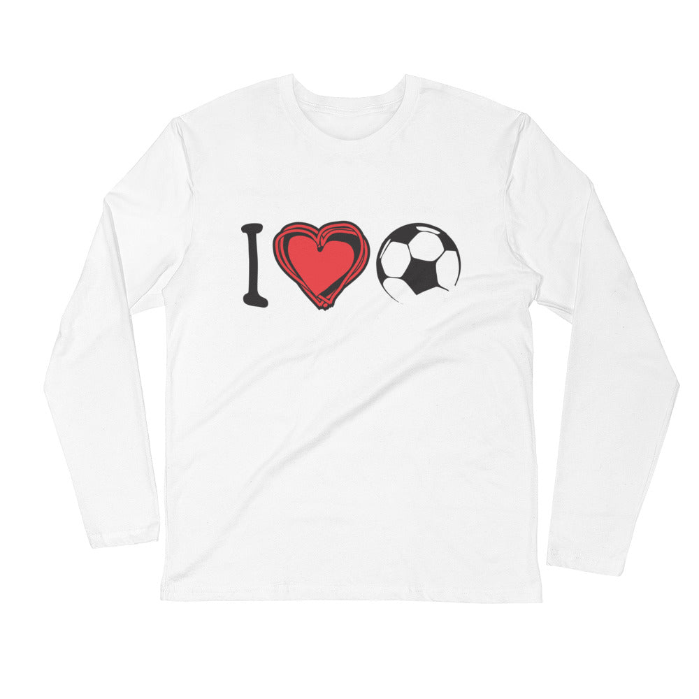 I Heart Soccer Long-Sleeve T-Shirt