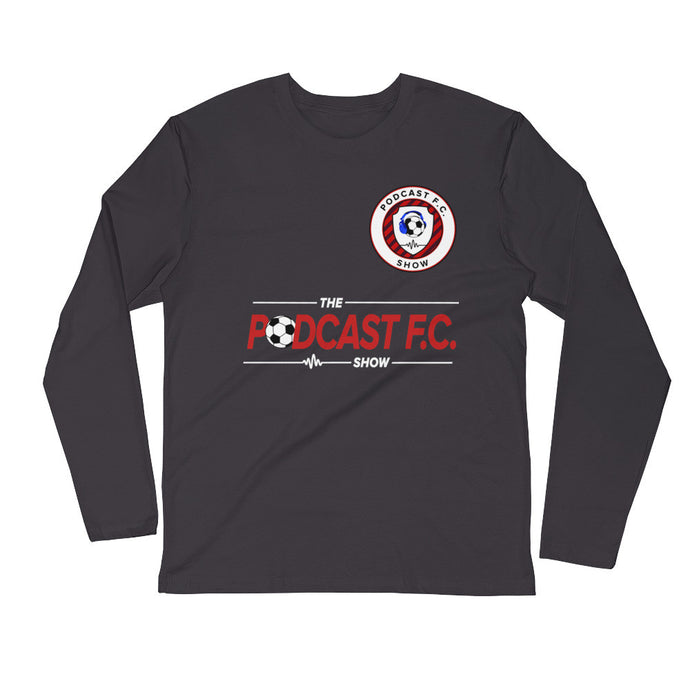 Podcast FC Show | A Soccer Podcast Metal Gray Long Sleeve T-Shirt