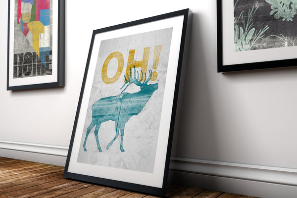 """Elk-OH! Nevada"" Art Print"