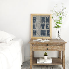 """Born - Love - Home"" Art Print"