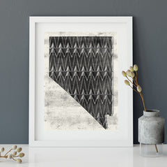 Nevada Mountains No.3 Art Print