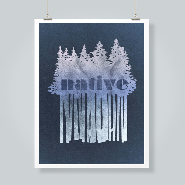 """Native Nevadan Winter"" Art Print"