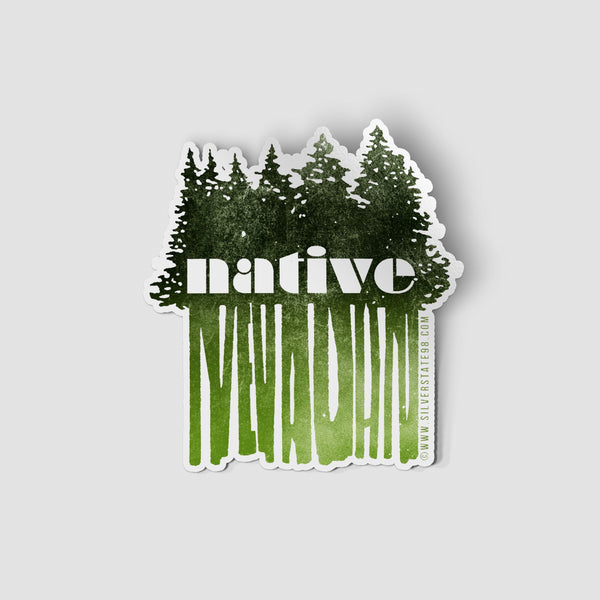 """Native Nevadan"" Sticker"